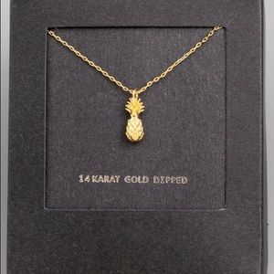Hannah Beury Jewelry - LAST ONE! 14K Gold Dipped Mini Pineapple Necklace
